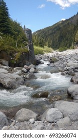 icy waters of mt. rainier summerlans trail