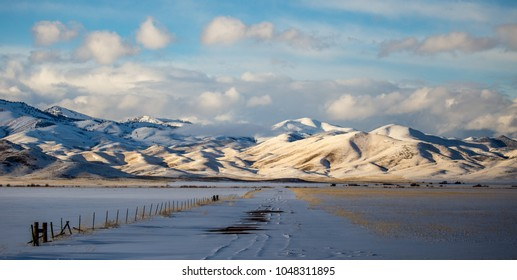 Idaho mountains in the winter