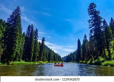 Idaho raft trip on the Payette River