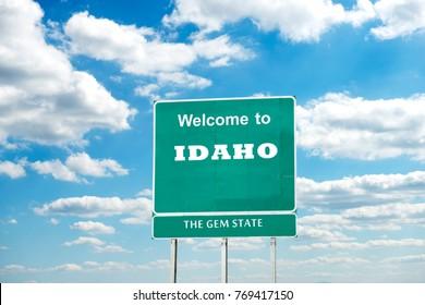 Idaho, Welcome road sign