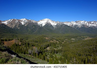 Idaho's Boulder Mountains are seen between Galena Summit and the Ketchum/Sun Valley area of the Wood River Valley.