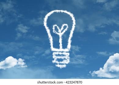 Idea Concept cloud with a blue sky
