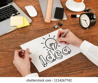 Idea concept on the desk