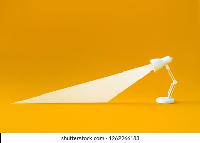 Idea and creativity concepts with lighting lamp on pastel color background.Business solution images