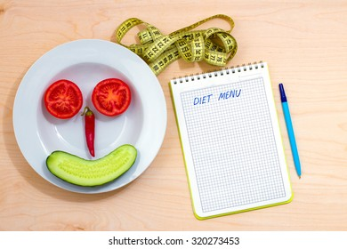 The idea of a healthy lifestyle. Diet menu