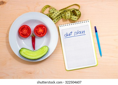 The idea of a healthy lifestyle. Diet plan