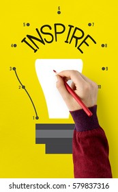 Idea Inspire Creativity Light Bulb Graphic Icon
