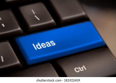 Idea word on keyboard button