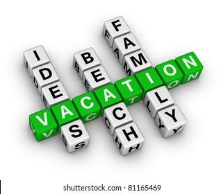 ideas beach family vacation crossword