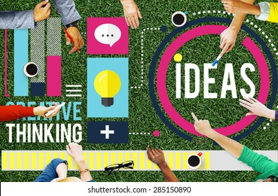 Ideas Creative Thinking Aspirations Mission Concept