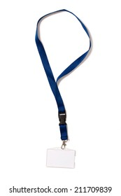Identification card - badge with clipping path on white