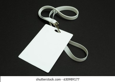 Identification card isolated on black background