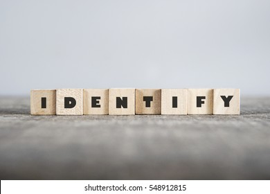 IDENTIFY word made with building blocks