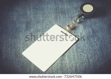 Identity Card On Jean Background Tone Stock Photo (Edit Now