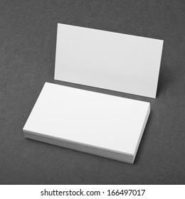 identity design, corporate templates, company style, blank business cards on grey background