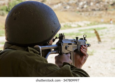 IDF soldier in a shooting practice