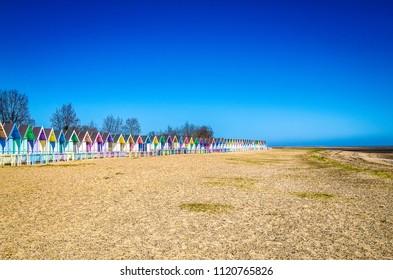 idilic holiday beach huts in Mersea Essex