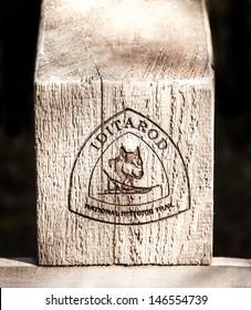 Iditarod National Historic Trail Wooden Signpost