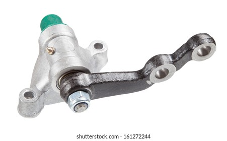 Idler Arm isolated on white background. New auto parts for cars.