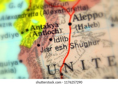 Idlib, a city in Syria (selective focus)