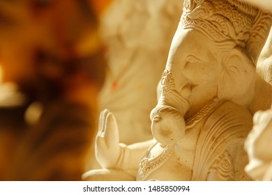 Idol of God Ganesha made with Plaster of Paris material