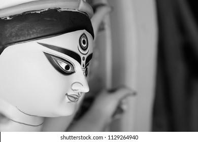 Idol of Hindu Goddess Durga during Bengal's Durga Puja festival