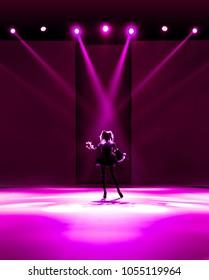 Idol on the stage / spotlight focus