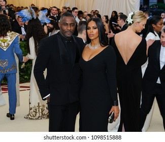 Idris Elba and Sabrina Dhowre attend the 2018 Metropolitan Museum of Art Costume Institute Benefit Gala on May 7, 2018 at the Metropolitan Museum of Art in New York, New York, USA