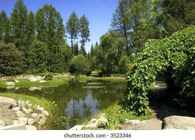 idyll. summer landscape