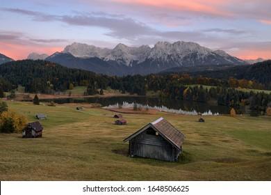 Idyllic alpine pastureland in Bavaria