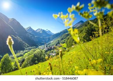 Idyllic alpine village Heiligenblut, Carinthia, Austria