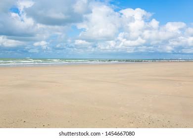 Idyllic Atlantic coast near Blankenberge in Flanders, Belgium