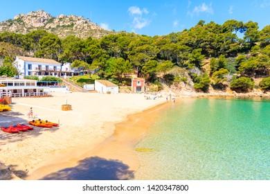 Idyllic beach Aiguablava of near Fornells village, Costa Brava, Spain