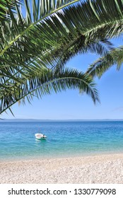 idyllic Beach at Makarska Riviera,adriatic Sea,Dalmatia region,Croatia