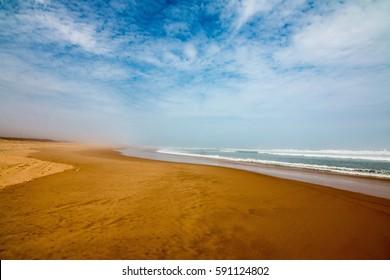 Idyllic beach in Senegal just north of Dakar