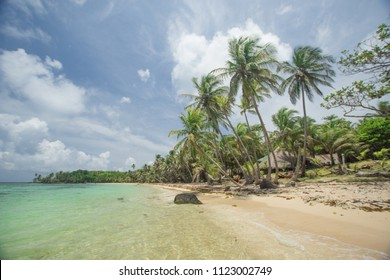 The idyllic caribbean  beach on the hidden Little Corn Island, a secret paradise with some untouched beches for your own.