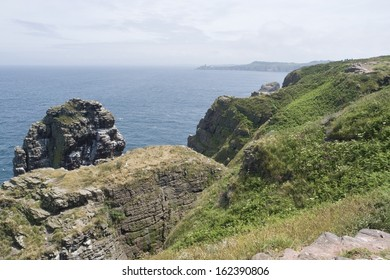 Idyllic coastal scenery at Cap Frehel in Brittany, France