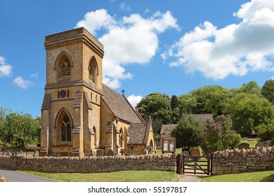 The idyllic Cotswolds village of Snowshill. Featuring St Barnabas's church