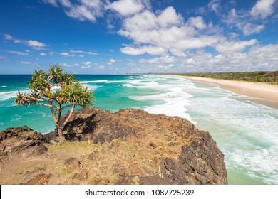 The idyllic Dreamtime Beach near Fingal Head in New South Wales, Australia