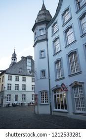 Idyllic Eifel city in North Rhine Westphalia near Monschau in the Eifel on 05.27.2017