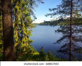Idyllic Finnish lake scenery