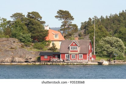 Idyllic house by the sea in Swedish archipelago.