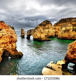 Idyllic landscape at Lagos, Algarve. Portugal