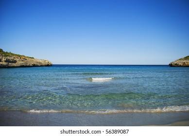 Idyllic ocean shore at Mallorca
