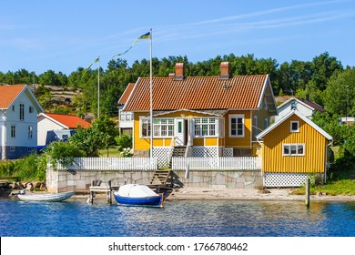 Idyllic old archipelago cottage on a beautiful summer day