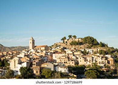Idyllic old town Polop, Costa Blanca, Alicante, Spain