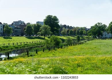 Idyllic park in Arnhem, Netherlands