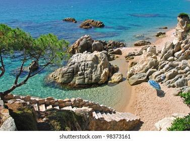 an idyllic Place at the Costa Brava near lloret de Mar,Spain