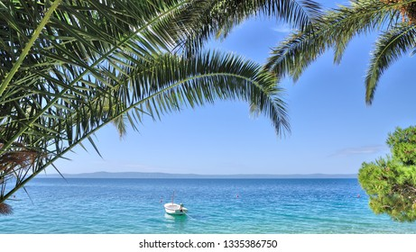 idyllic Place at Makarska Riviera,adriatic Sea,Dalmatia region,Croatia