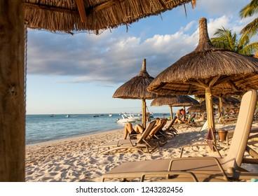 idyllic place  at mauritius island